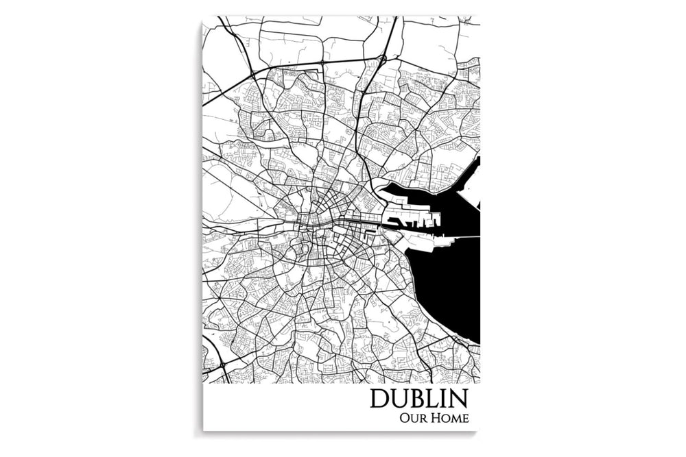 Dublin City Map Poster