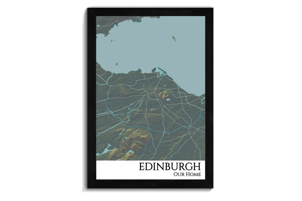 Edinburgh City Map Wall Art