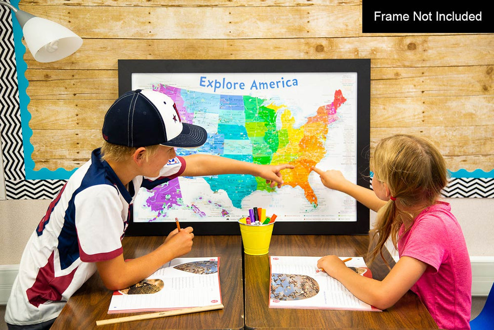 educational usa kids map
