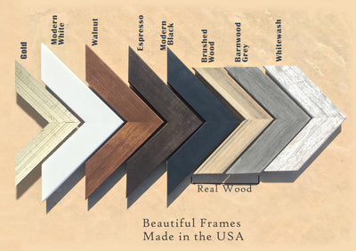 wood frames for maps
