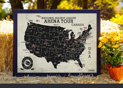 framed hockey map