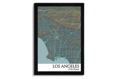 framed la map