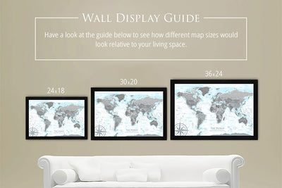 world maps hanging on wall