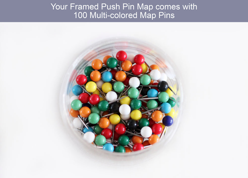 map with pins