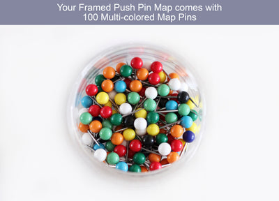 usa map push pins