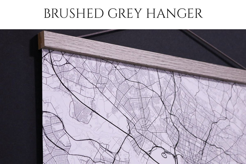 Brushed Grey Poster Hanger