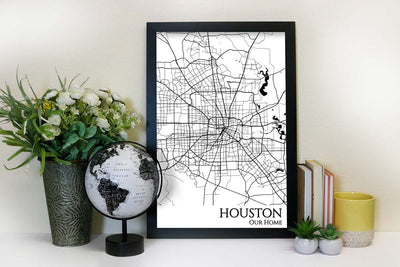 houston street map wall art