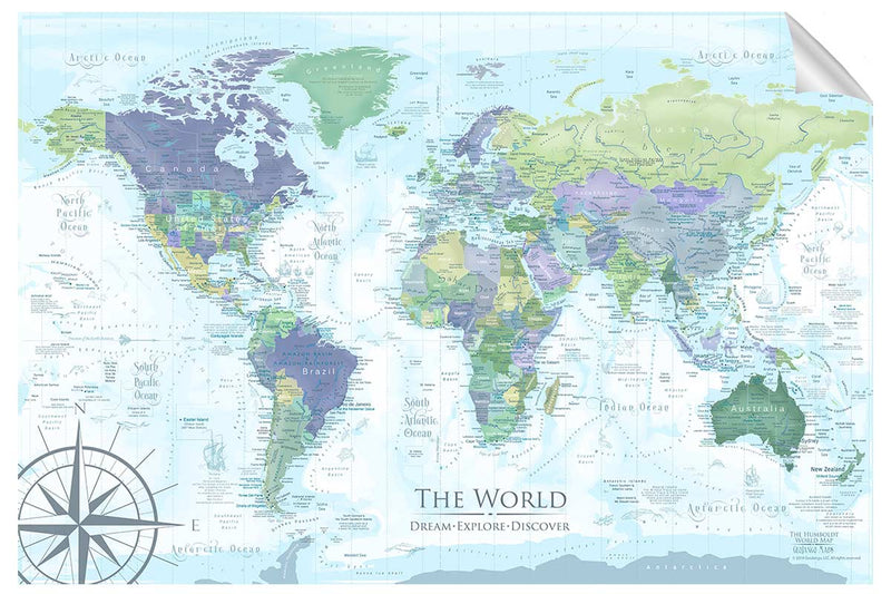 Humboldt World Map Wall Decal