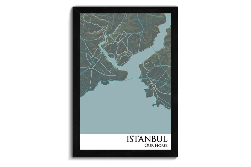 custom city map of istanbul