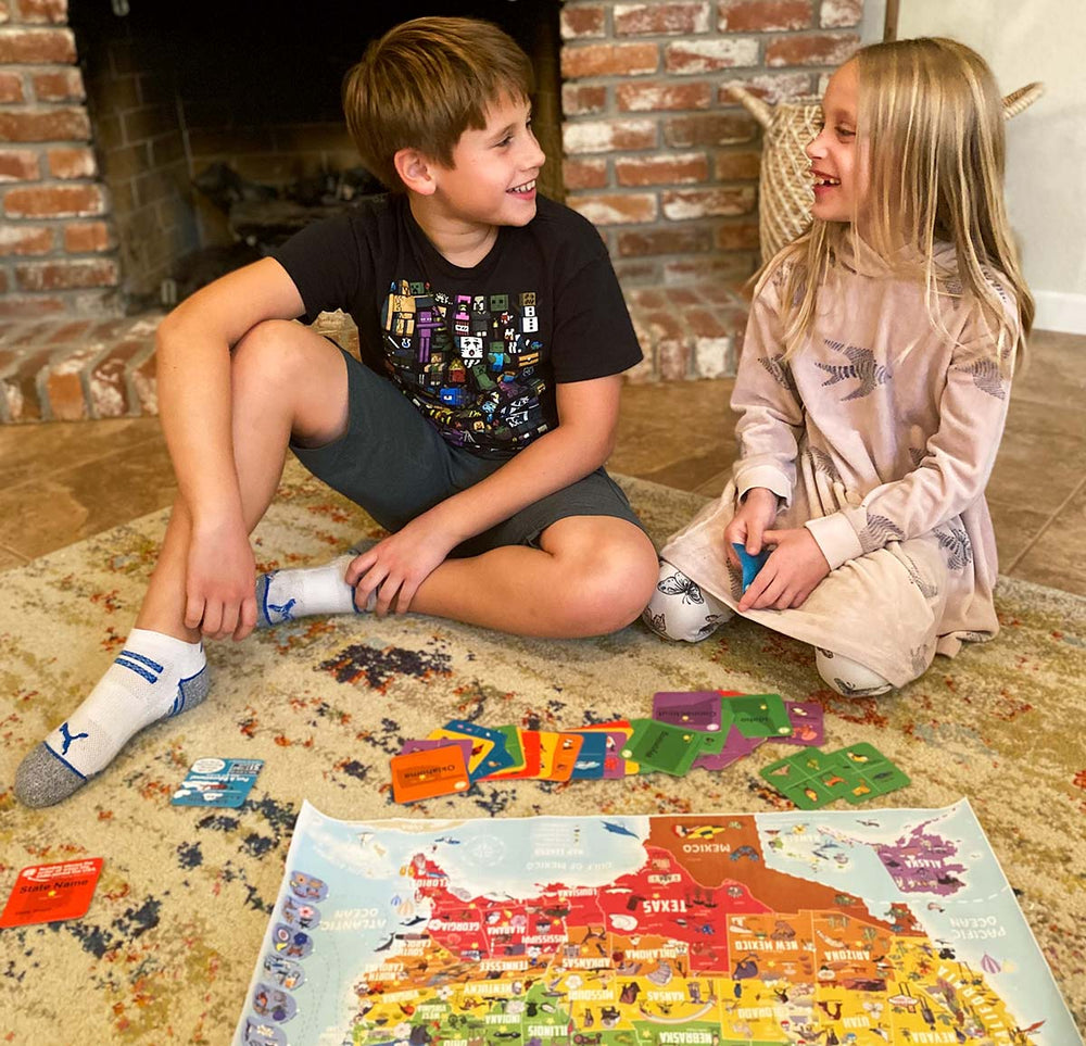 kids map learning activity