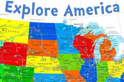kids map midwestern united states