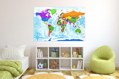 kids map of the world poster