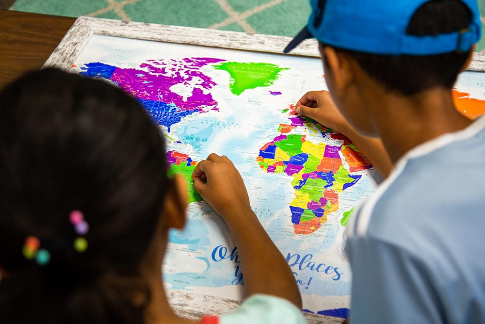 kids map of the world