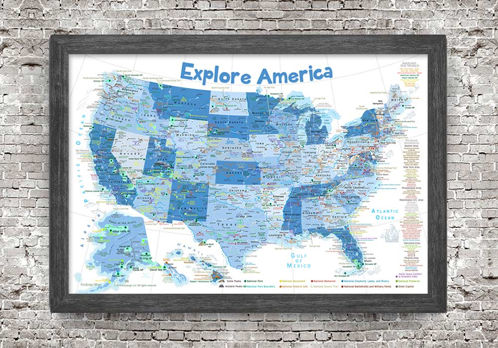 map of the usa for kids