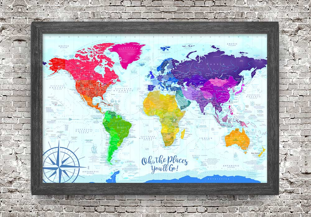 map of the world for kids