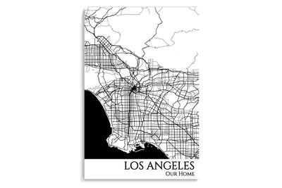 la city map art print