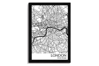 London Push Pin City Map