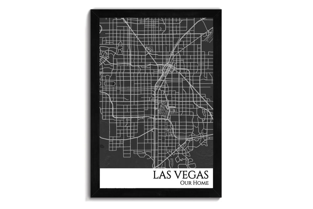 Las Vegas Push Pin City Map