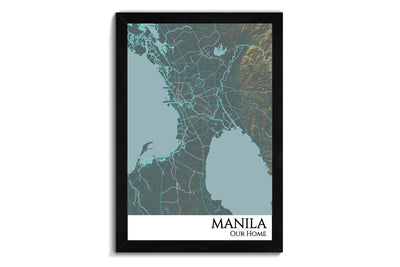 custom city map of manila