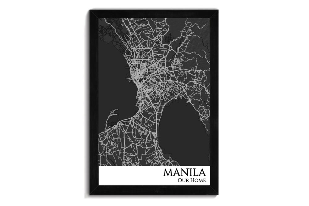manila city map art