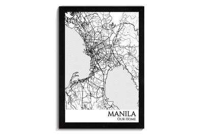 manila city map wall art