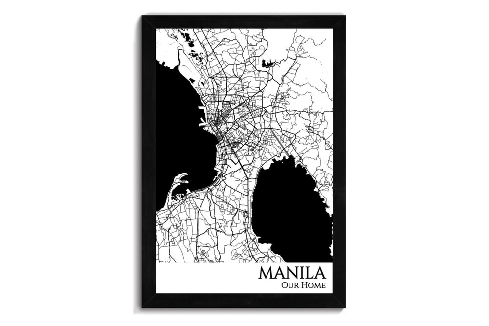 framed map of manila