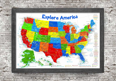 map of the us for kids