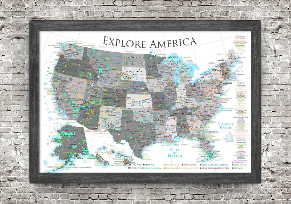 map wall decor