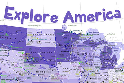 kids map of the united states
