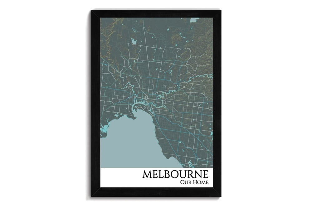 custom city map of melbourne