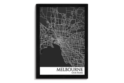 melbourne city map art