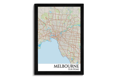 melbourne street map art