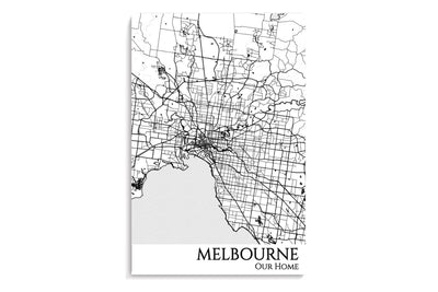 melbourne custom map poster