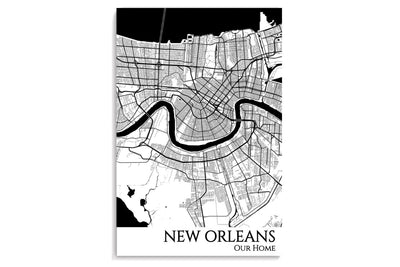 New Orleans City Map Poster