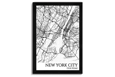 nyc city map wall art