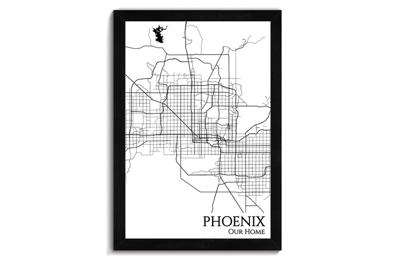 phoenix framed city map