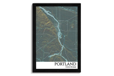 custom city map of portland