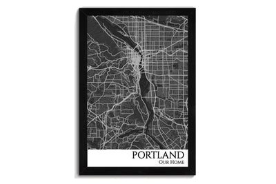 portland city map art