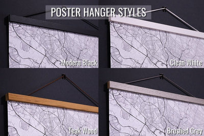 poster hanger style options