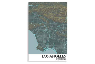 poster los angles map