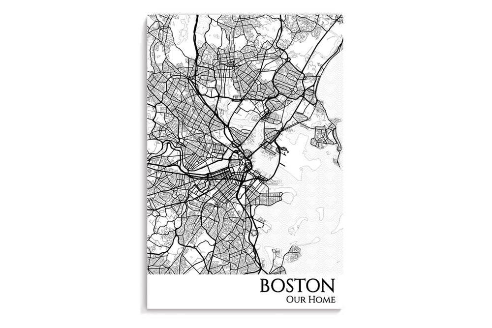 poster map of boston