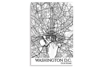 poster map of dc