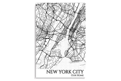 poster map of nyc
