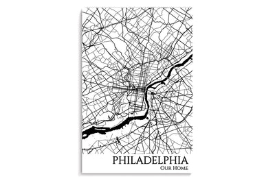 poster map of philadelphia