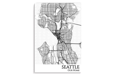 poster map of seattle