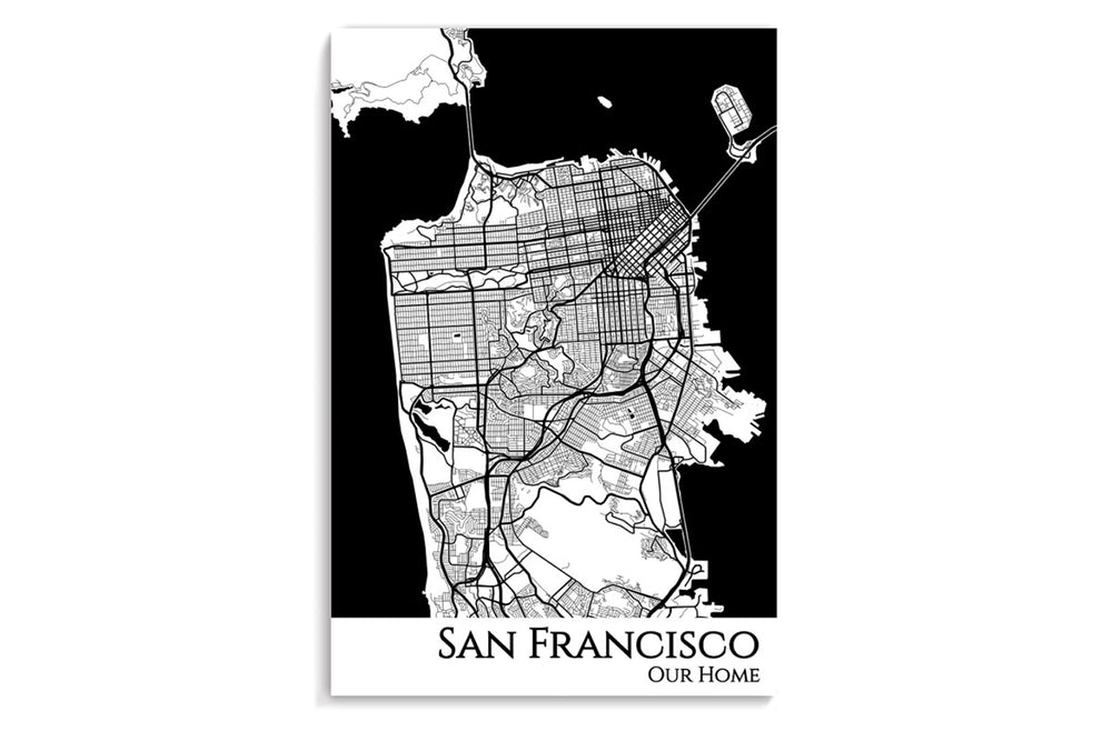 poster map of sf