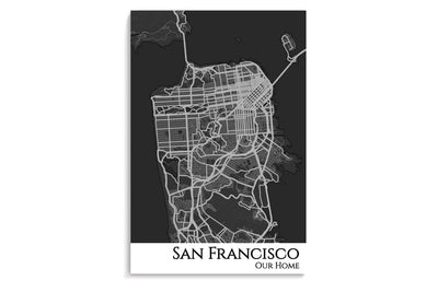 poster of san francisco map