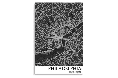 poster philadelphia map art