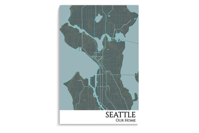 poster seattle map