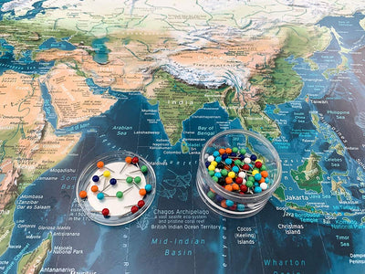 push pin world map